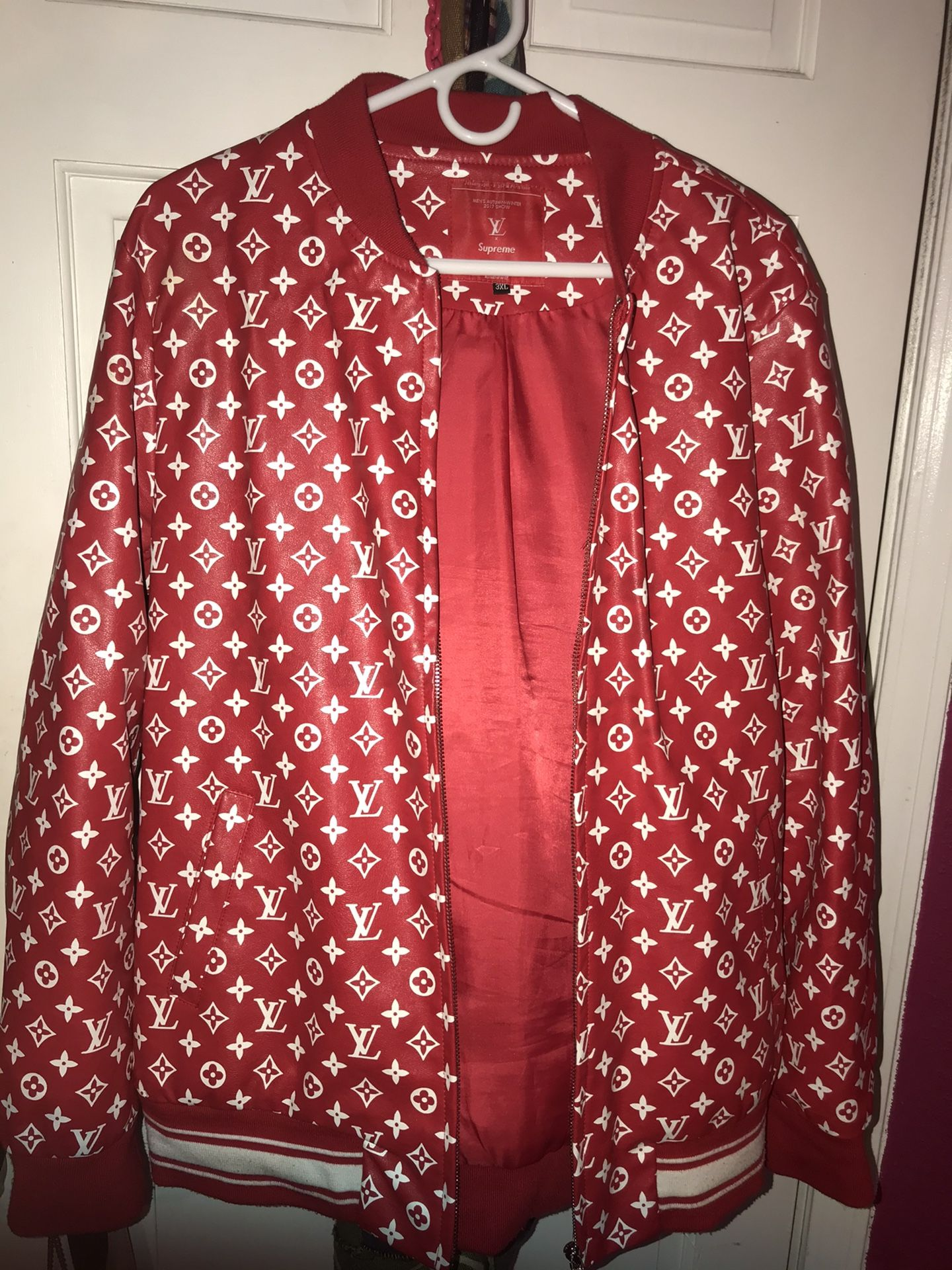 Authentic Louis Vuitton & Supreme jacket