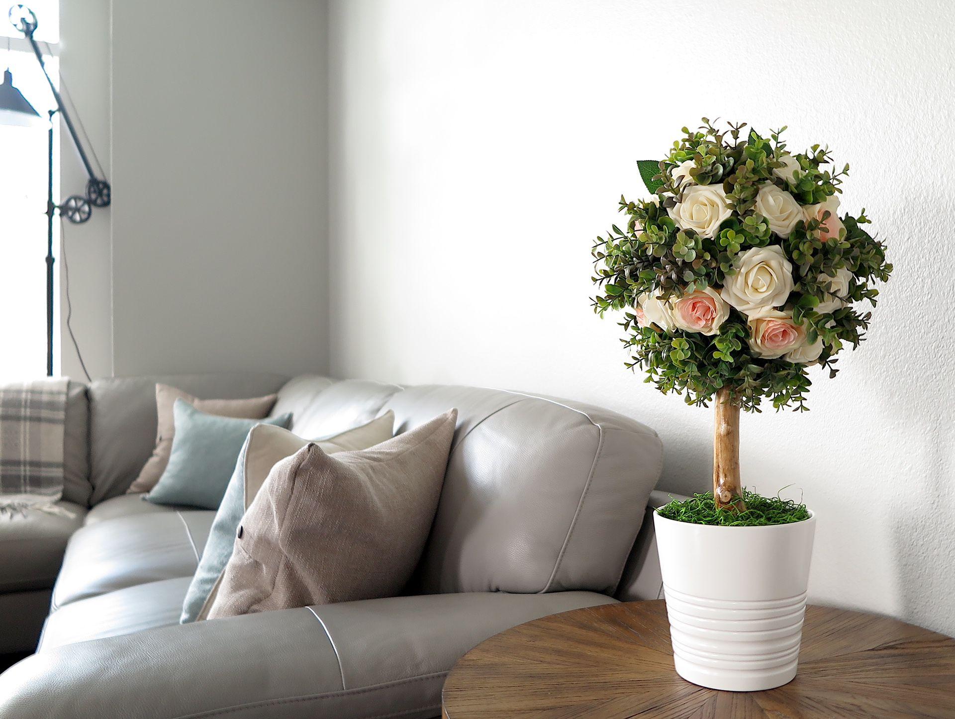 Home Decor, Topiary Tree, Floral Arrangement