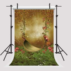5x7ft Party Booth Props Mushroom Backdrops for Photography Polka Photo Booth Props for Children Thumbnail
