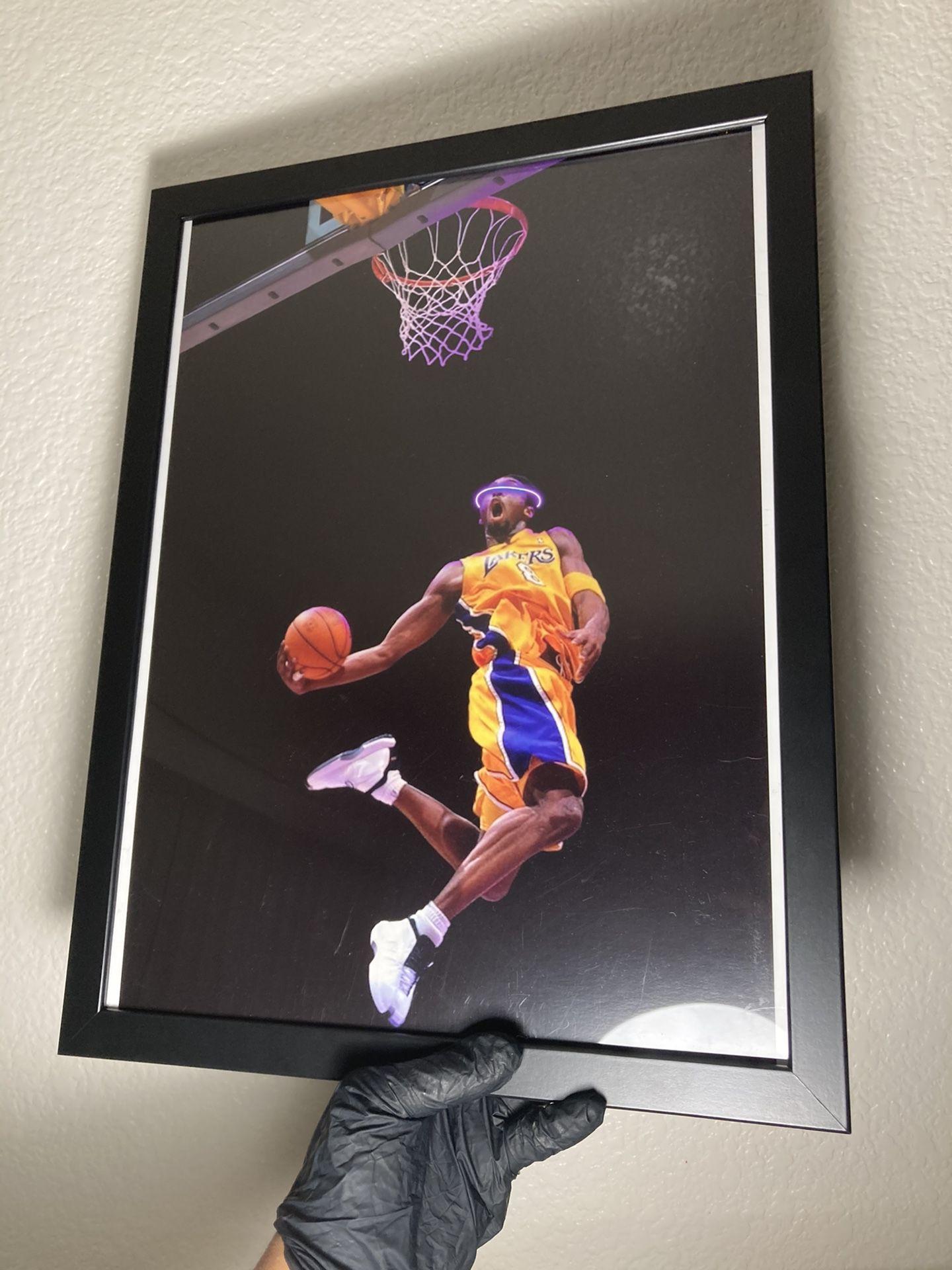 Kobe Dunk Lakers Basketball Custom Print