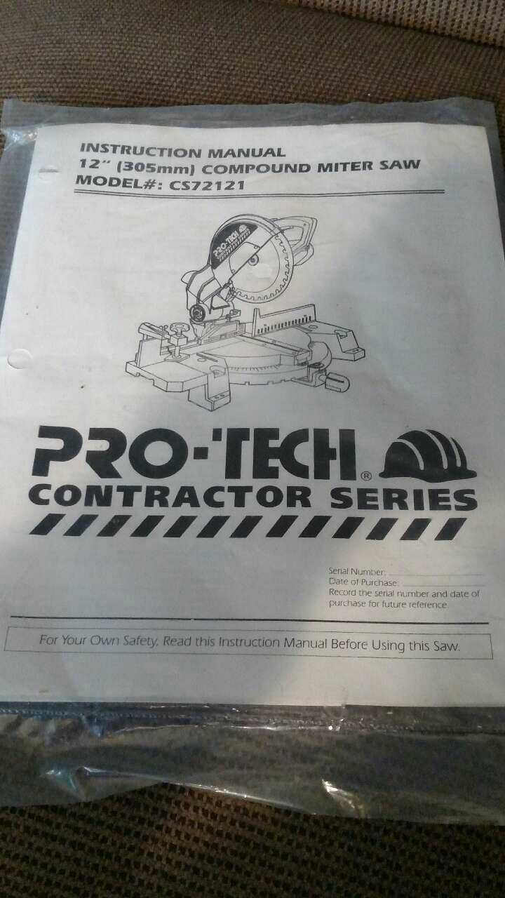 Pro-tech Contractor Series compound miter saw