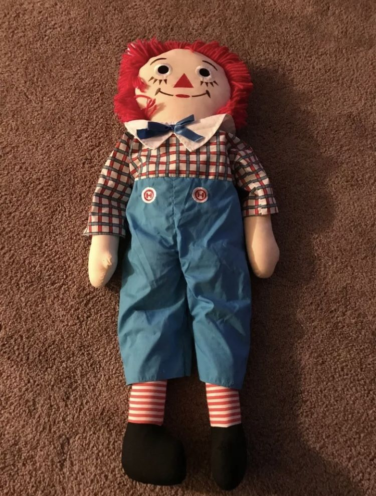 """APPLAUSE RAGGEDY ANDY 25"""" DOLL"""