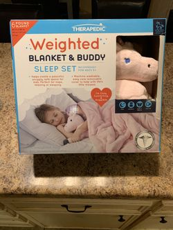 Therapedic girls weighted blanket and buddy Thumbnail
