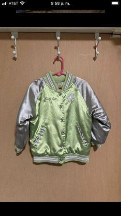 Disney TinkerBell Bomber Jacket for girls 4T Thumbnail