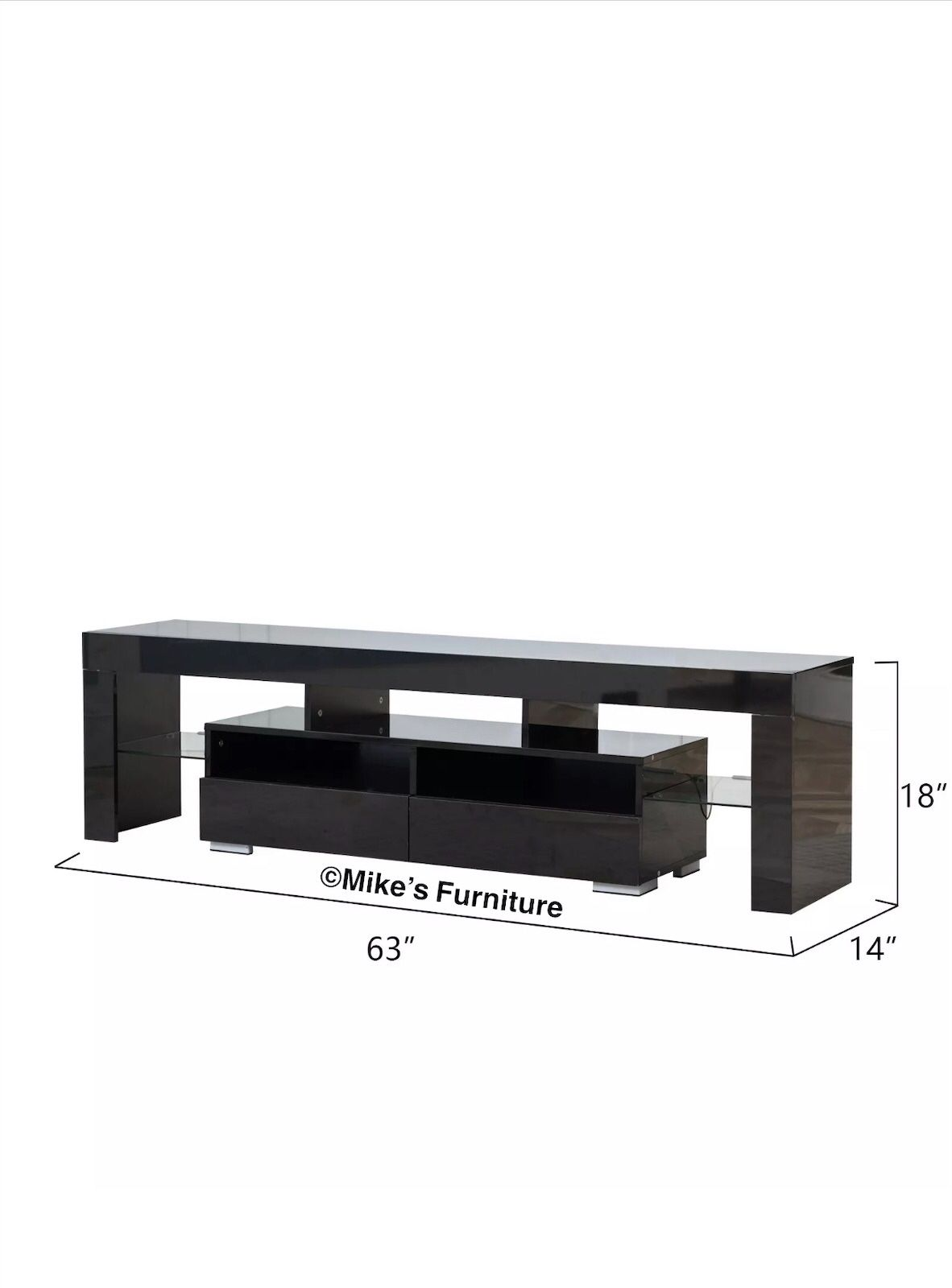 """Brand new 63"""" TV stand entertainment center wall unit with L.E.D lights"""