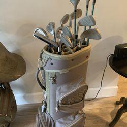Full Set Of Golf Clubs & Golf Bag Thumbnail