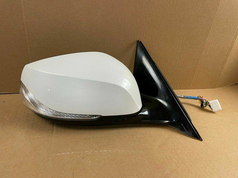 14-20 INFINITI Q50 RIGHT PASSENGER SIDE VIEW DOOR MIRROR W/ CAMERA WHITE
