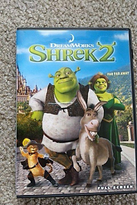 Shrek 1 and 2 DVDs