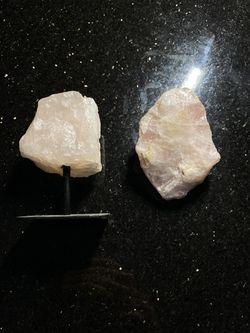 Authentic Large Rose Quartz Crystal Set Thumbnail