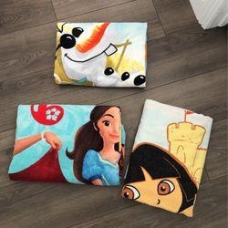 Kids Beach Towels Seimminh Pool Dora Elena Of Avalor Olaf Frozen Disney Store Thumbnail