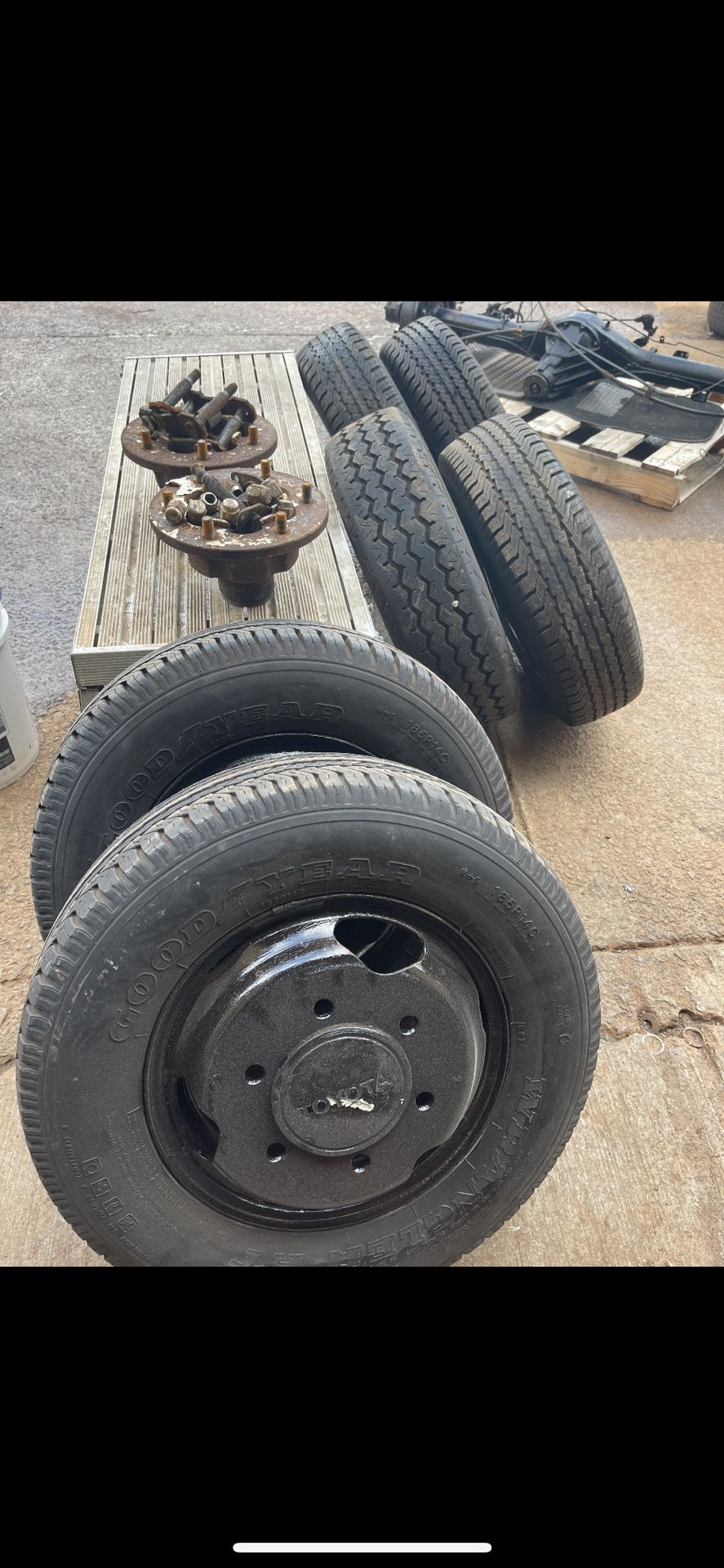 89 Toyota Pickup Dually Axle And Wheels
