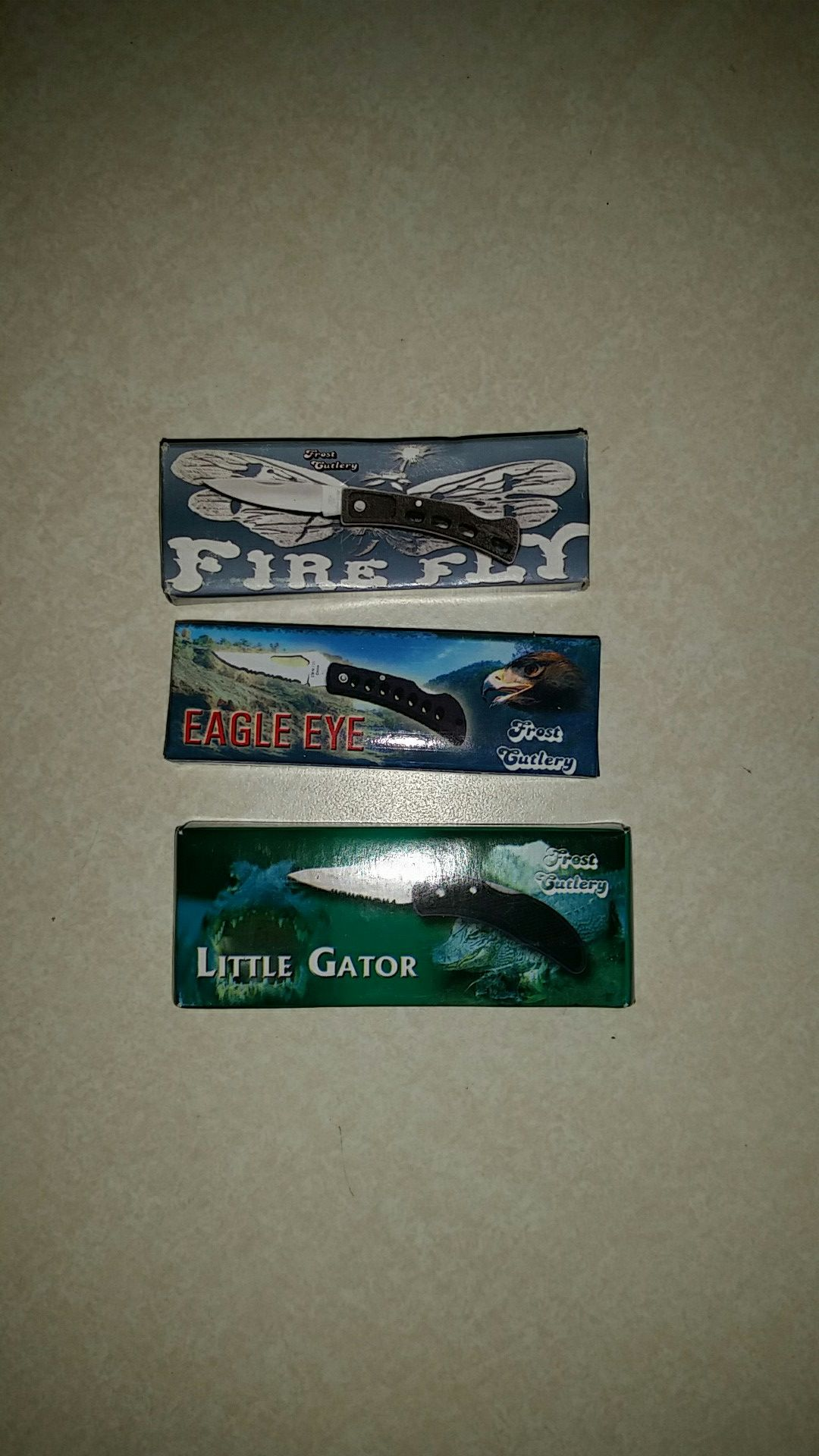 Firefly, eagle eye, little gator