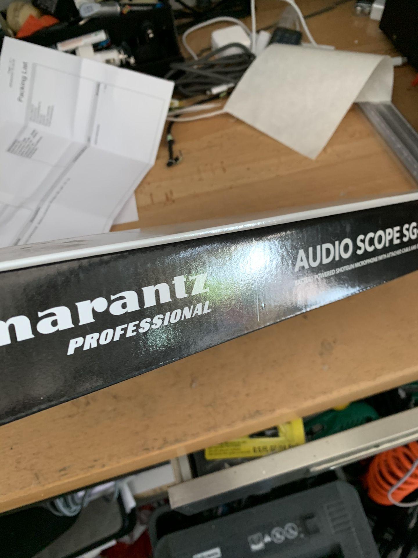 Marantz shot gun microphone new