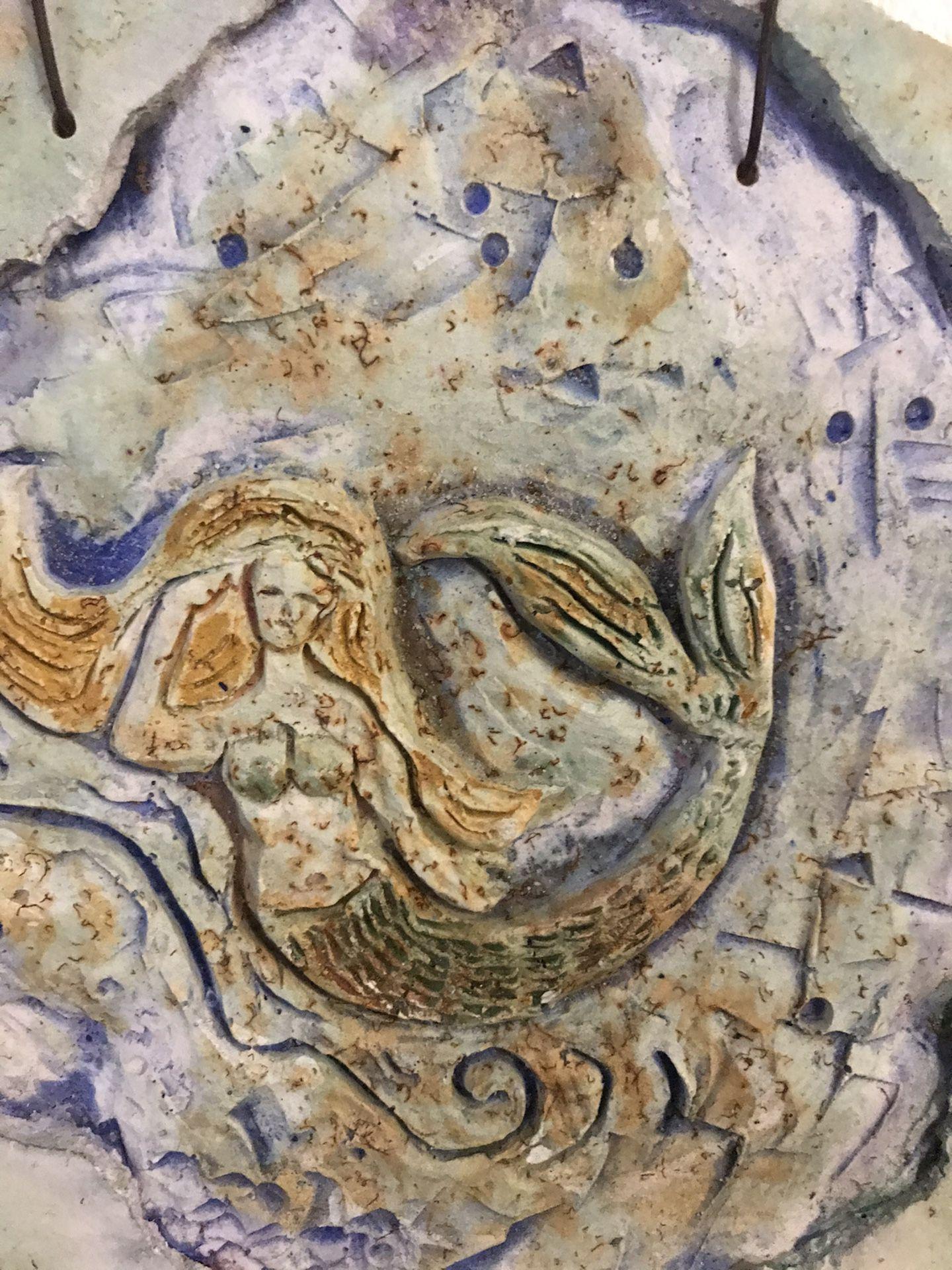 Mermaid decoration, ceramic art