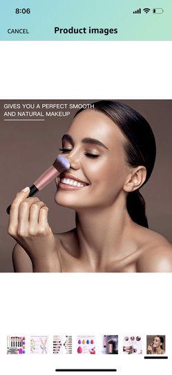 BESTOPE Makeup Brushes 16Pcs Professional Makeup Brush Set 2 Silicone Face Mask Brushes&4 Blender Sponge&1 Brush Cleaner Premium Synthetic Foundation Thumbnail