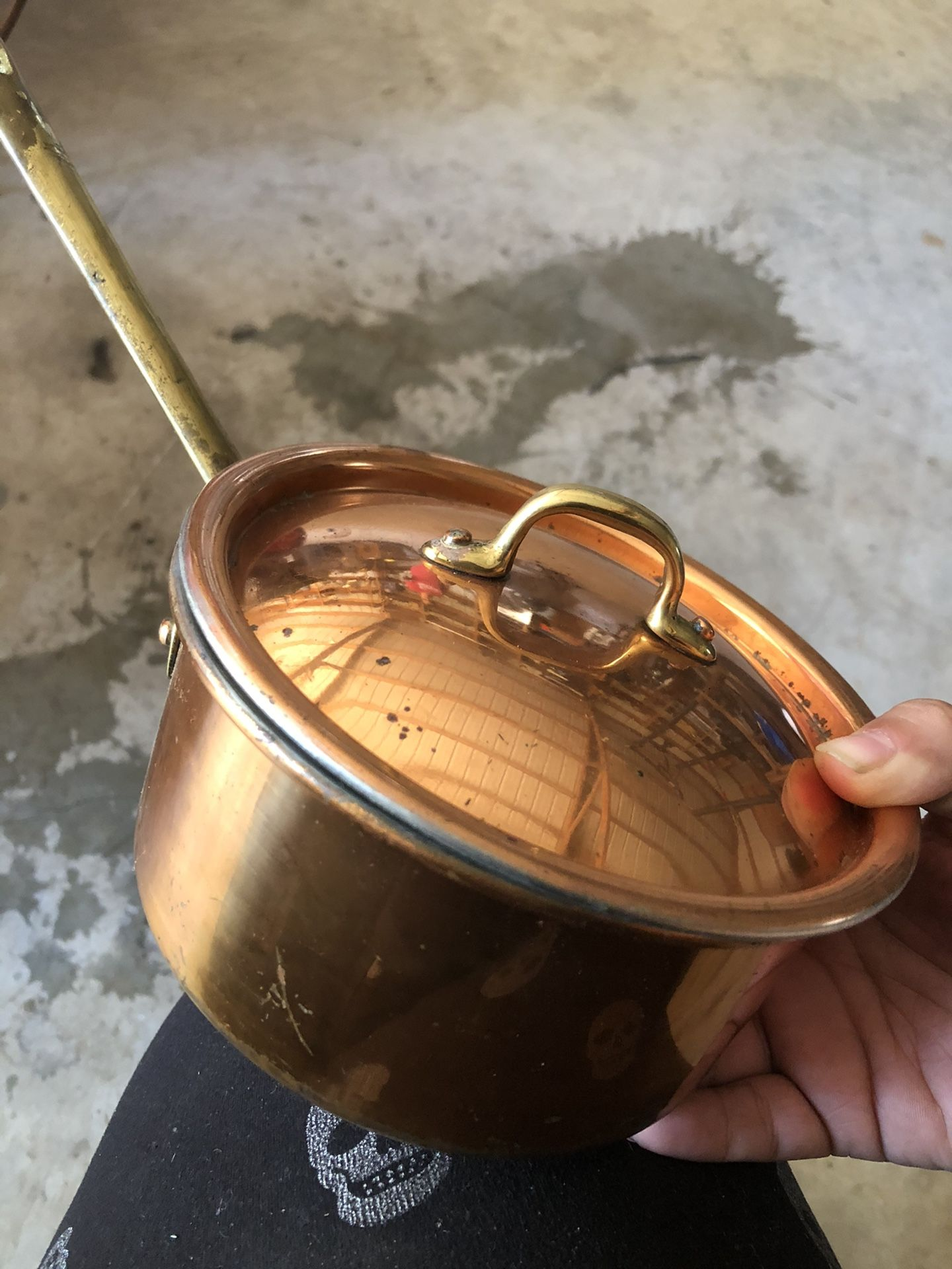 Copper plated pan