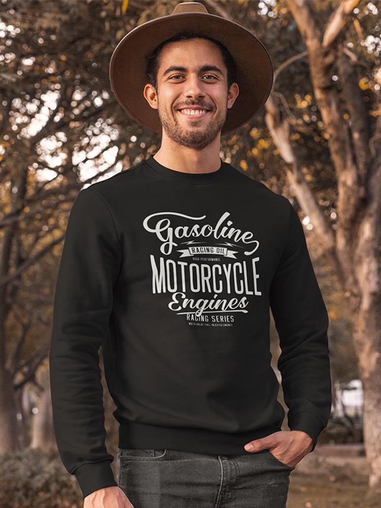 Smartprints Motorcycle Enginers Sweatshirt Men's -Image by Shutterstock Black Size L