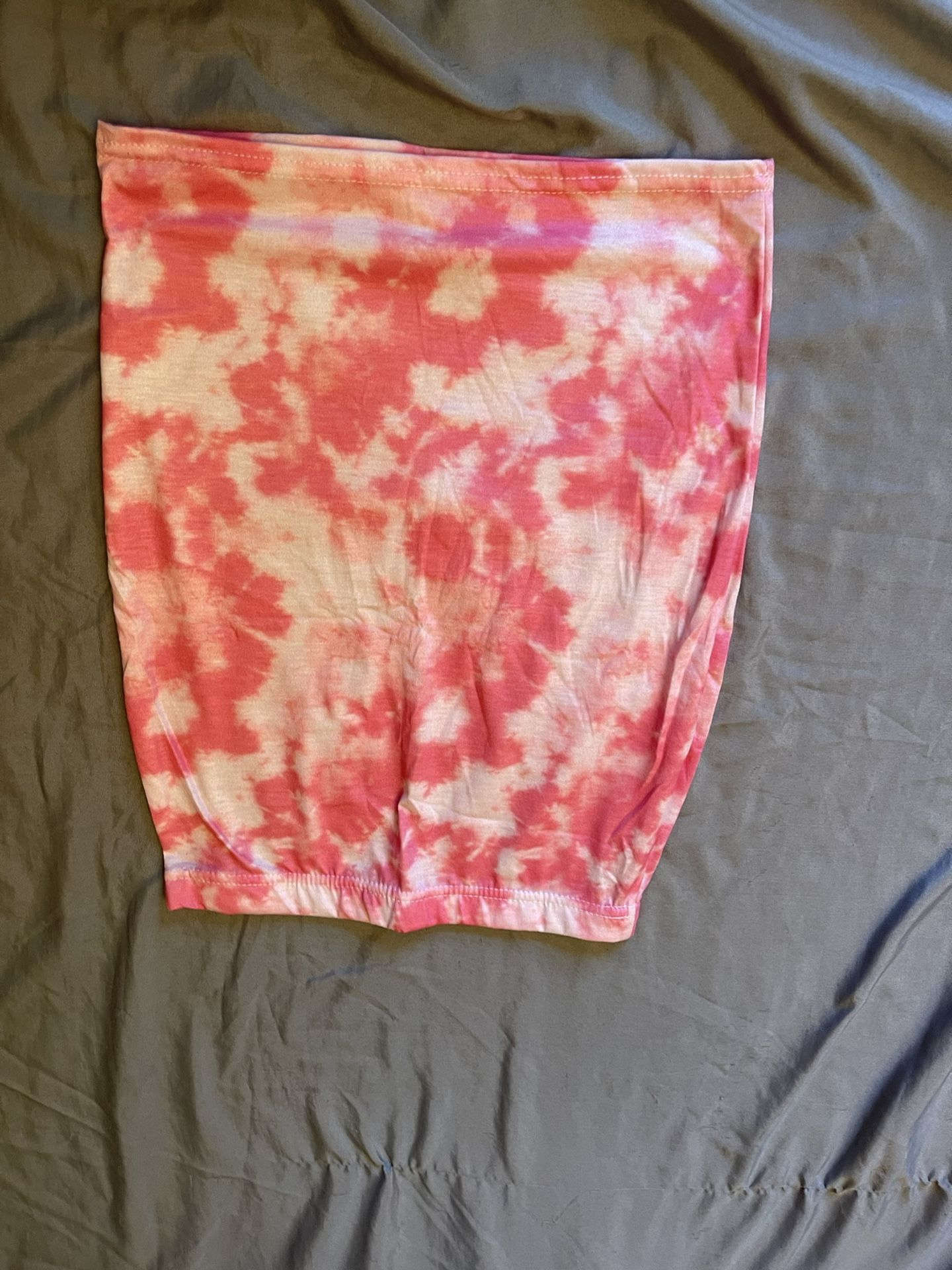 pink tie dye pencil skirt never worn