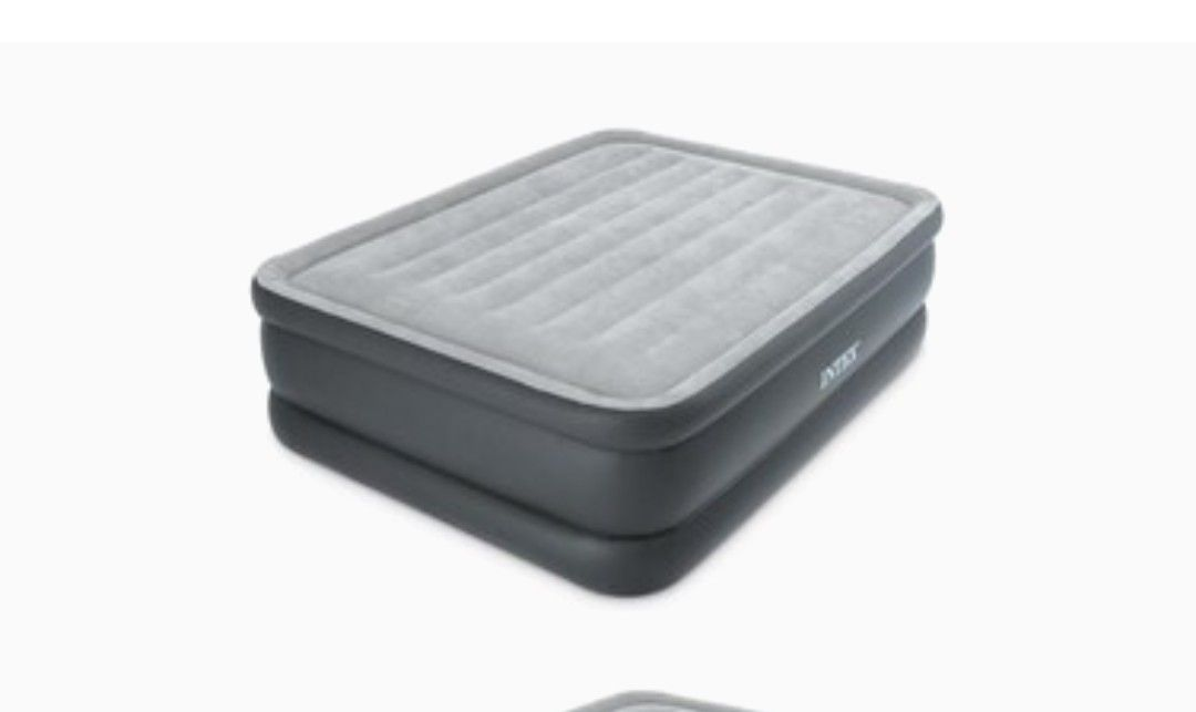 "Intex 22"" Queen Comfort Plush  Airbed Mattress with Built-In Pump"