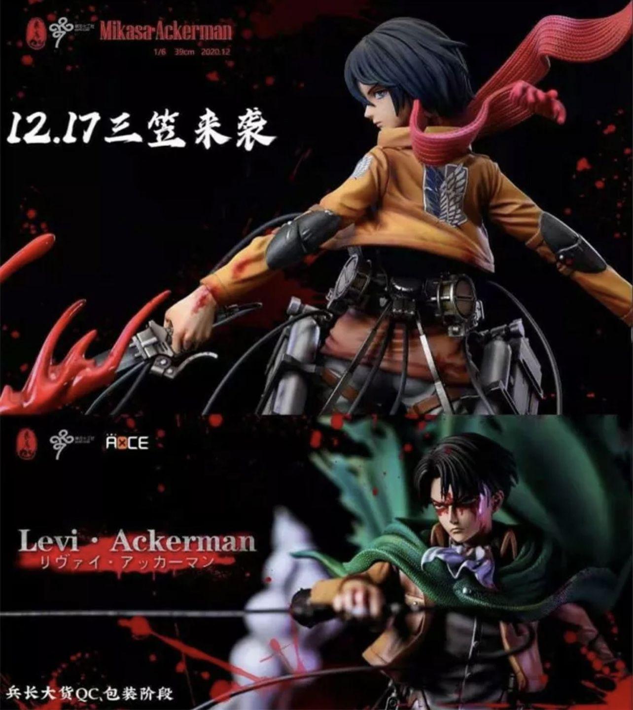Mikasa Ackerman Resin Figures Levi Attack On Titan
