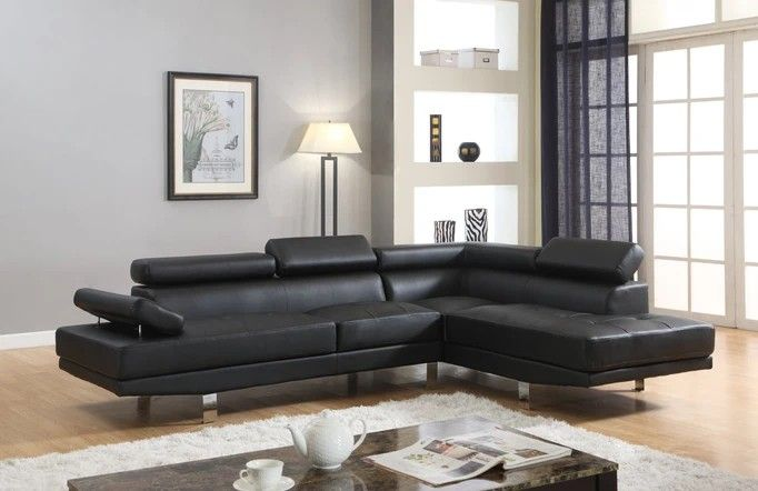 $39 DOWN Antares Black Modern Sectional