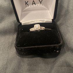 White Gold Wedding Ring Set  Thumbnail