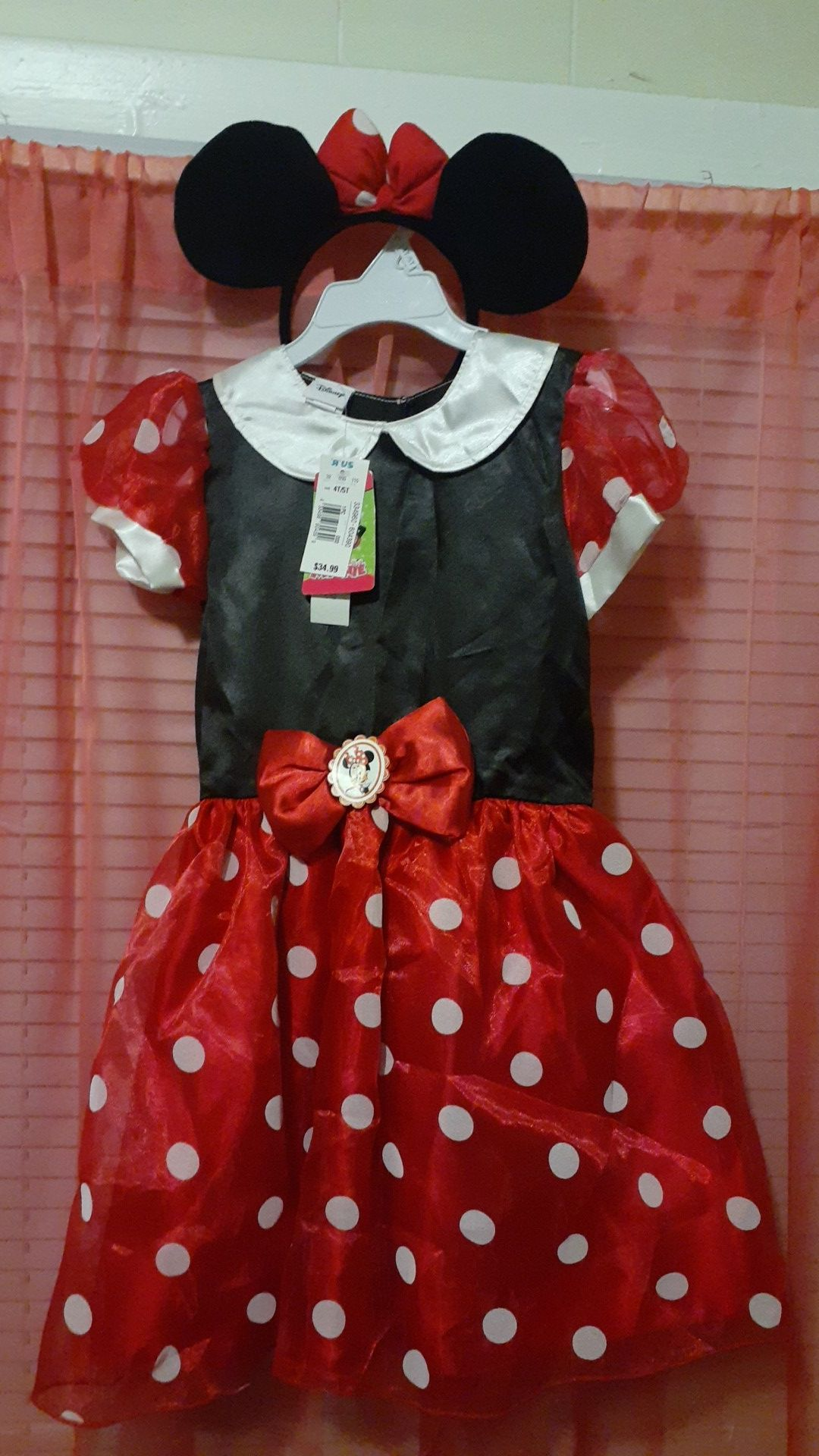 4t/5t minnie mouse disney costume