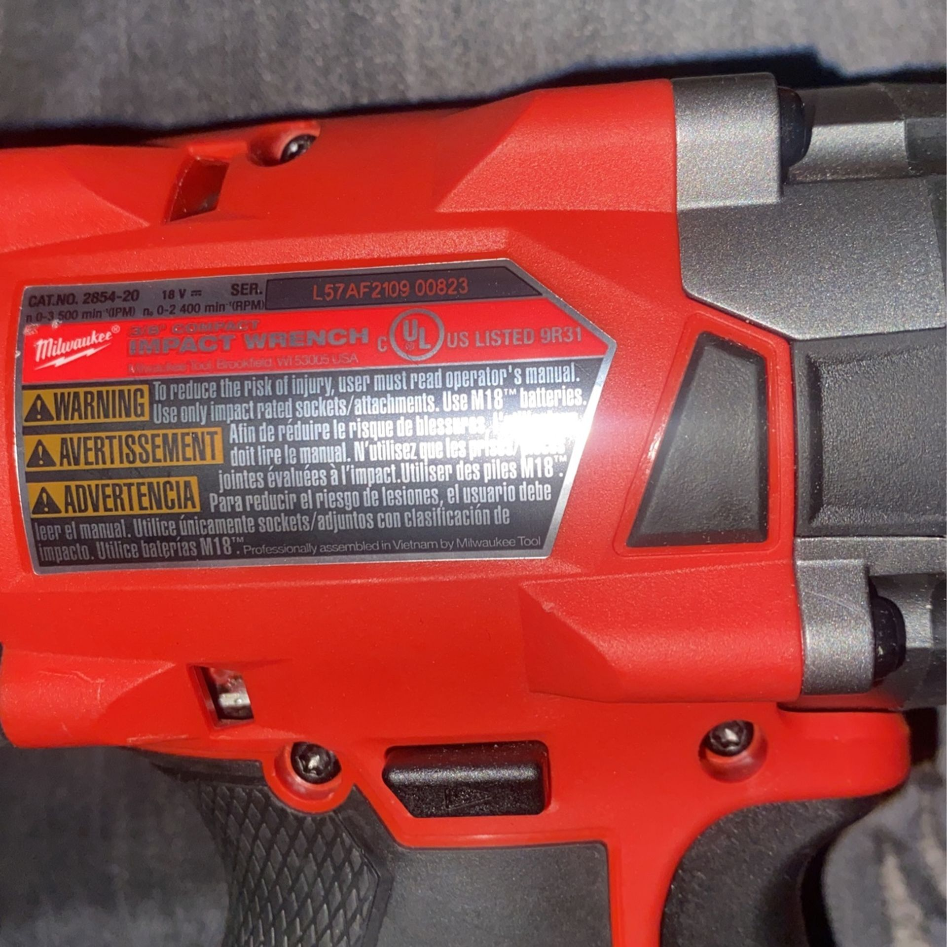 Milwaukee 3/8  Compact Impact Wrench