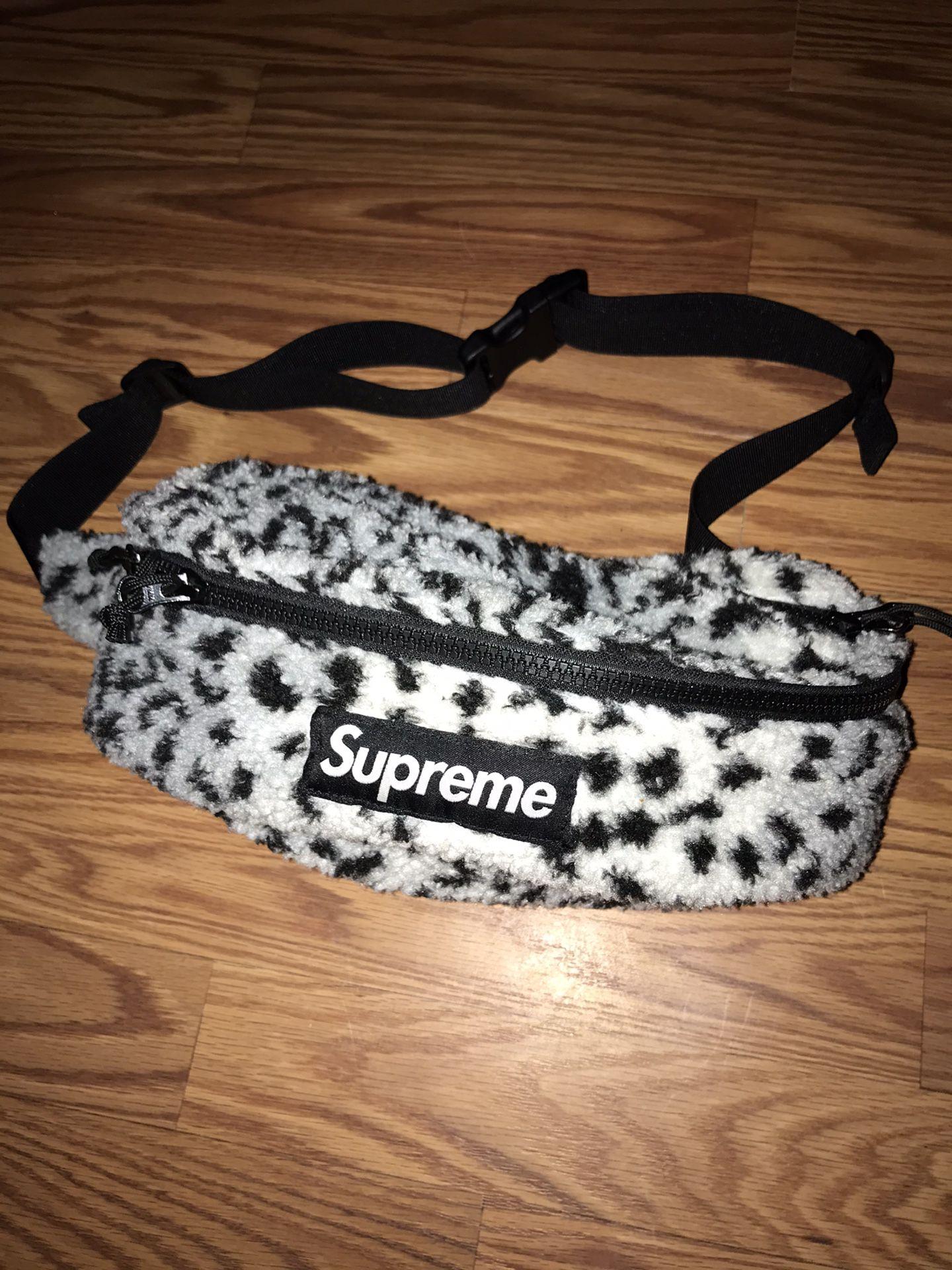 Supreme Leopard Waist Bag