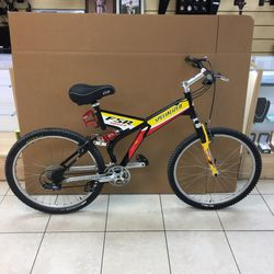 1999 SPECIALIZED FSR COMP RETRO CLASSIC FULL SUSPENSION DOWNHILL / CROSS COUNTRY BIKE Thumbnail