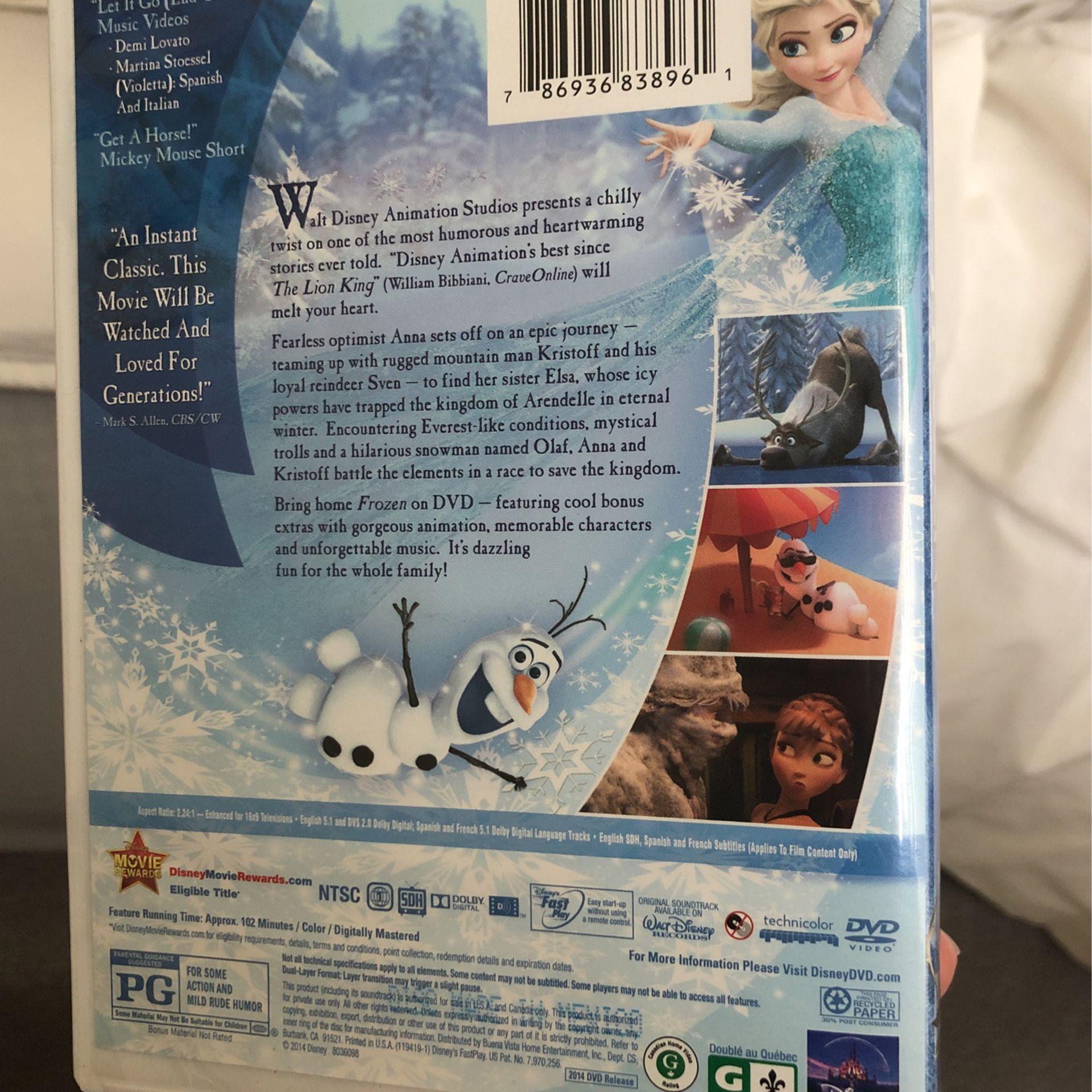 Frozen Movie DVD