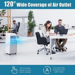 Costway 8000 BTU Portable Air Conditioner & Dehumidifier Function Remote W/ Window Kit Thumbnail