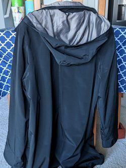 Brand New - Black Rain Jacket With Hood (XL) Thumbnail