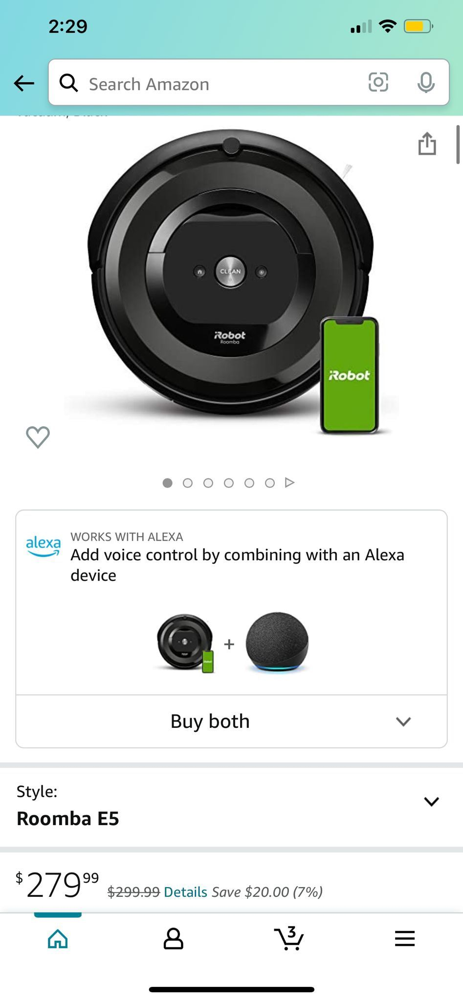 I Roomba E5 Robot Vacuum