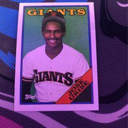 1988 Jose Uribe Card  Thumbnail