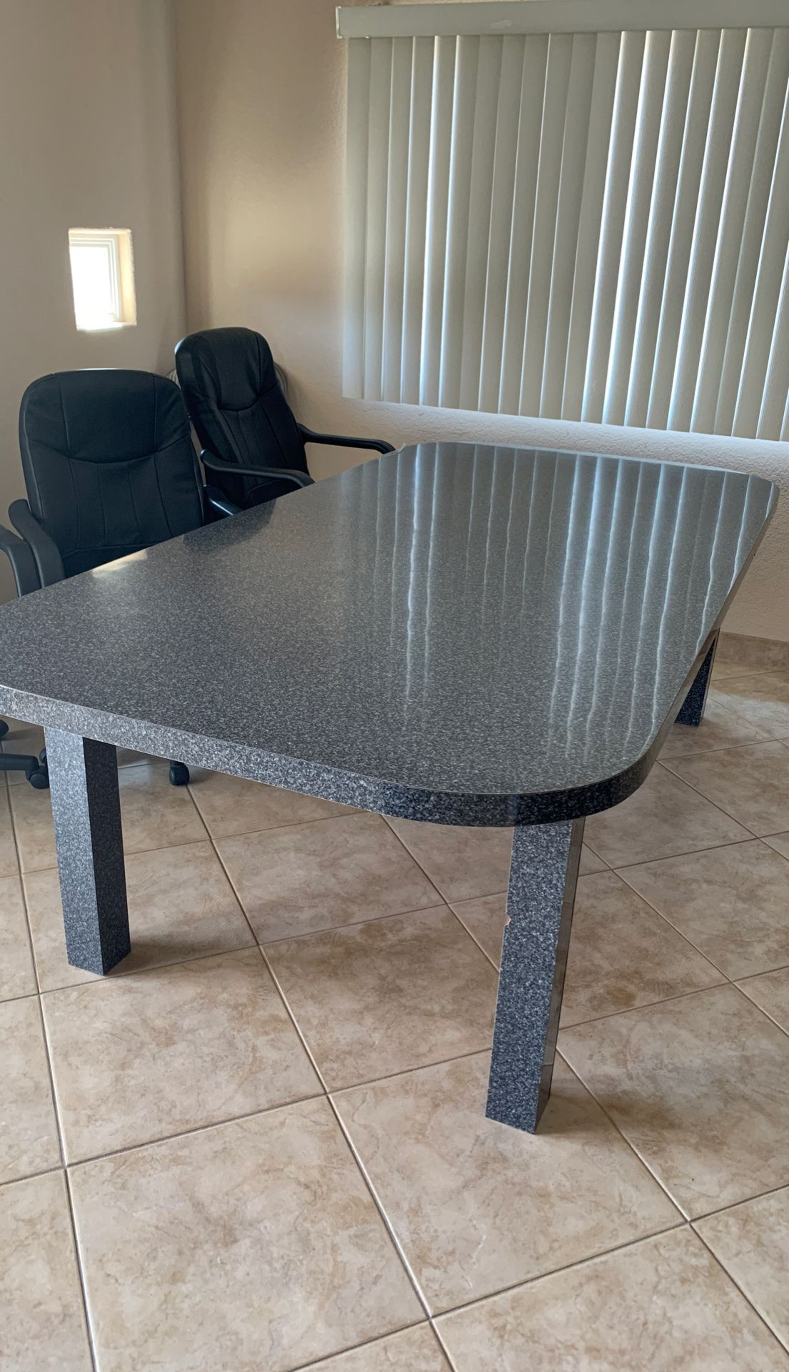 Large Gray Formica Table