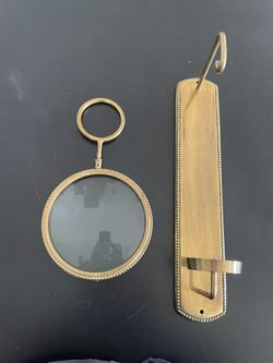 Brass Magnifying Wall Sconce   Thumbnail