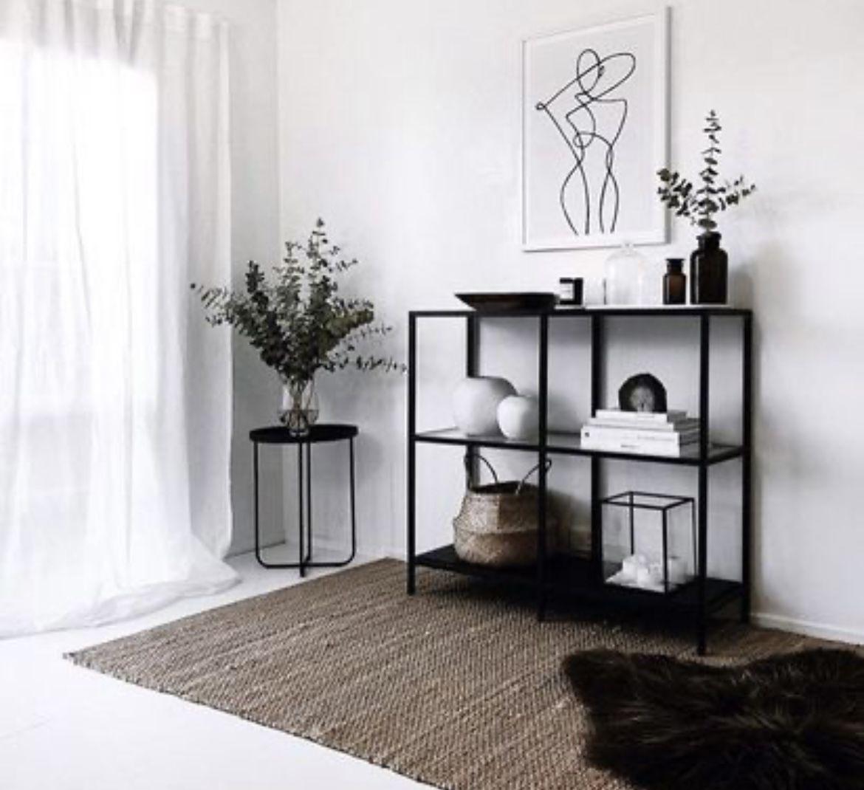 Black Shelf Unit