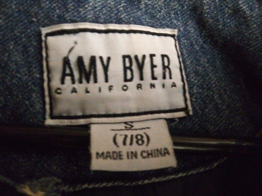 AMY BYER DENIM JACKET size: Small7/8