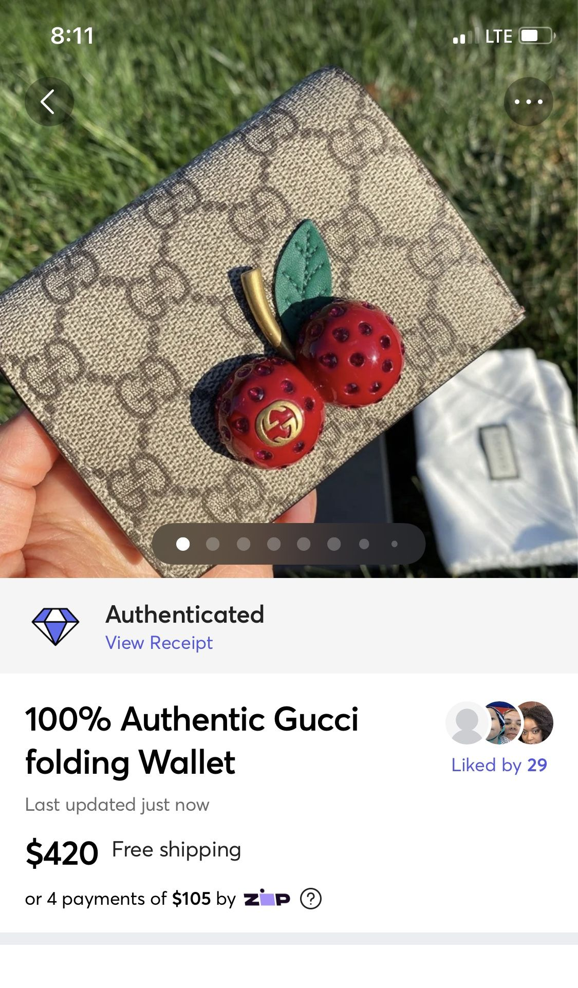 100% Authentic Gucci Wallet