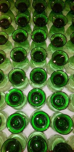 Green and Blue Glass Cups Thumbnail