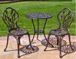 Patio Rustic Table Set Aluminum Bistro Set Outdoor table Thumbnail