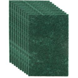 Clean Team Solutions (10 Pack) Green Scouring Pads For Dishes Scrub Pad Scouring Sponges Kitchen Cleaning Supplies Thumbnail