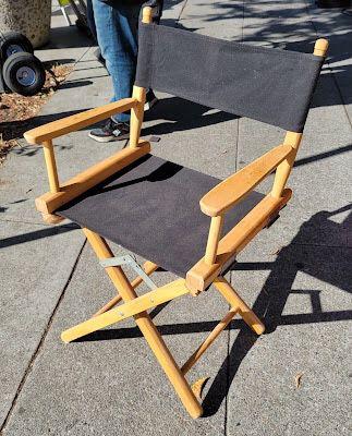 "#108826 Pair of Folding Directors Chairs 20"" L x 17"" D x 34"" H"