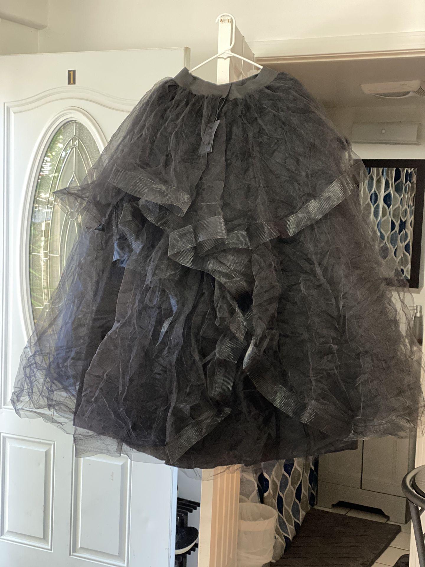 Black Puffy Wedding Skirt