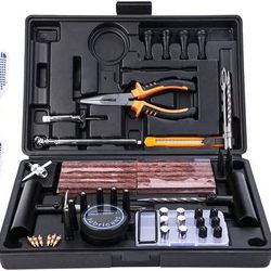 condition: new   Tire Repair Kit, 100 Pcs Heavy Duty Tire Plug Kit for Car, Universal Tire Patch kit to Fix Punctures and Plug Flats, tire Repair Plug Thumbnail