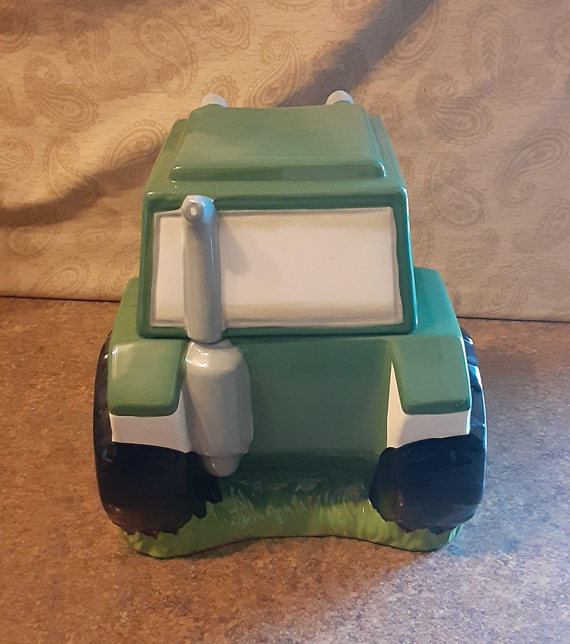 Decorative Farm Tractor Ceramic Display