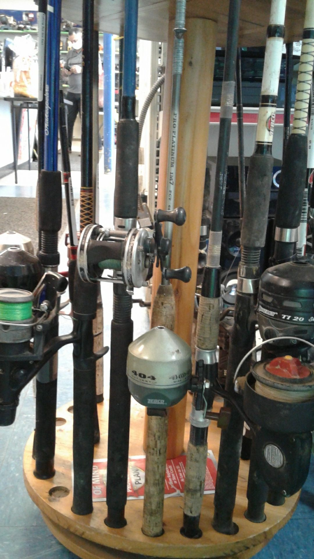 Fishing rod and reels available