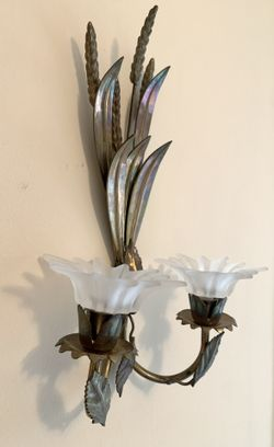 Brass wall candle holder Thumbnail