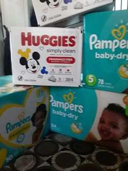Pampers and huggies wipes...$80 Thumbnail